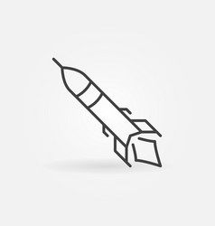 Missile concept linear minimal icon vector