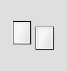modern frames on a white wall galery mock vector image