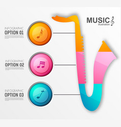 Music instrument design infographics vector