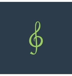 Music note Sheet key vector image