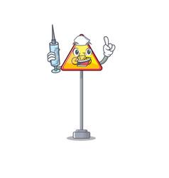 Nurse no cycling character shaped a mascot vector