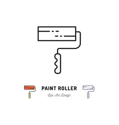 paint roller icon repair home building tools vector image