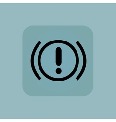 Pale blue alert icon vector image