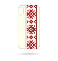 Phone cases squares ornament vector