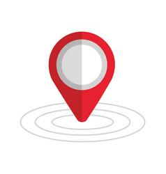 pin map gps location sign navigation vector image