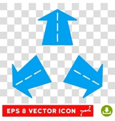 Road Directions Round Eps Icon vector image