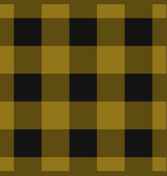 seamless black dark and bright ocher tartan vector image