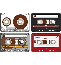 Set of the different Audio Cassettes vector image