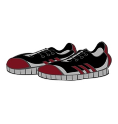 sneakers black vector image