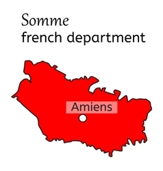Somme french department map vector