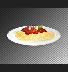 Spaghetti on transparent background vector