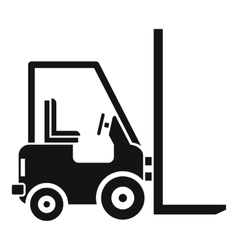 Stacker loader icon simple style vector