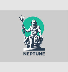 statue of poseidon or neptune with a trident vector image
