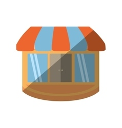 store building shop isolated icon vector image