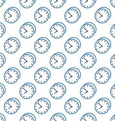 Stylish clock seamless pattern vector image