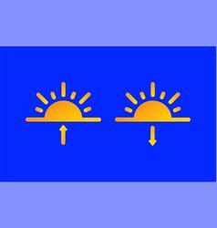 sunrise sunset weather forecast info icons set vector image