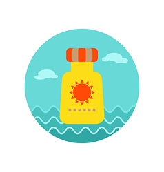 Sunscreen icon Summer Vacation vector