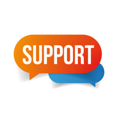 Support speech bubble icon vector