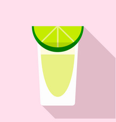 Tequila glass icon flat style vector