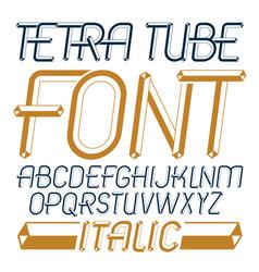 Trendy modern capital uppercase english alphabet vector