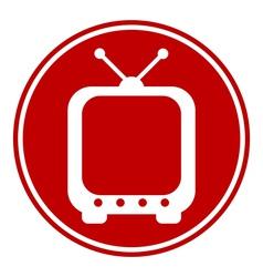 TV button vector image