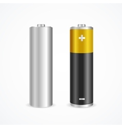 Two battery set vector