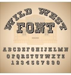 Vintage font ABC alphabet vector