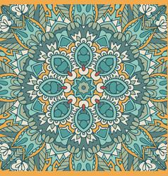 vintage geometric tiles bohemian graphic print vector image