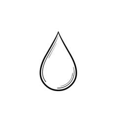 Water drop hand drawn sketch icon vector