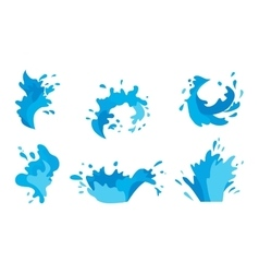 Water splashes set vector image