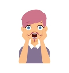 Woman emoji face vector