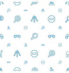 zoom icons pattern seamless white background vector image