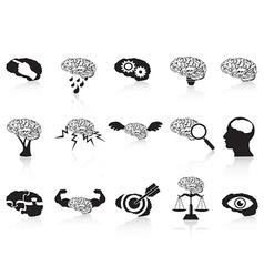 brain conceptual icons set vector image