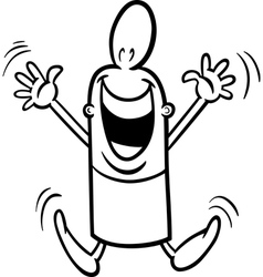 excited guy coloring page vector image