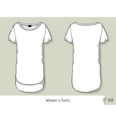 Women tunic Template for design easily editable vector image vector image