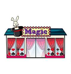 A magic house vector image vector image