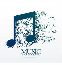 abstract music notes design background vector image