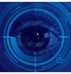 Binary eye vector image