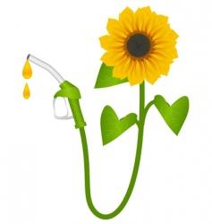 bio fuel concept vector image vector image