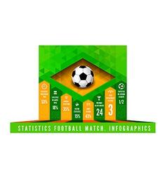Brasil Flag Triangle info vector image vector image