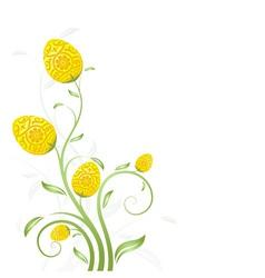 Easter card flower vector