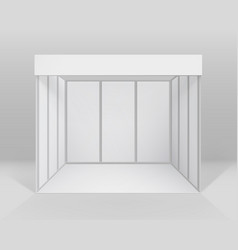 Exhibition stand for presentation with background vector