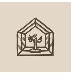 Greenhouse sketch icon vector image
