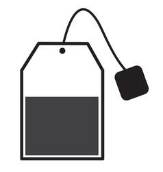 tea bag sign tea bag icon on white background vector image