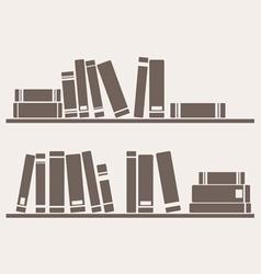 Book on the shelf vector