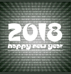 happy new year 2018 on grayscale stripped binary vector image vector image