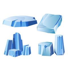 ice rock iceberg or icy frozen snow mountain vector image