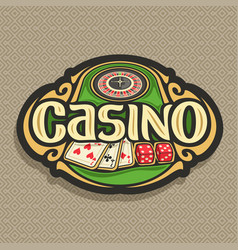 Logo for casino vector