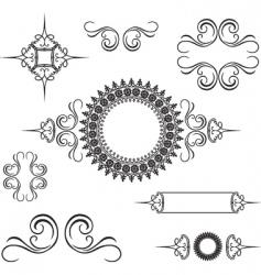 swirl ornament vector image