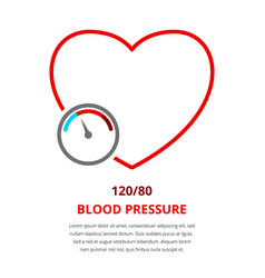 blood pressure 120 vector image vector image